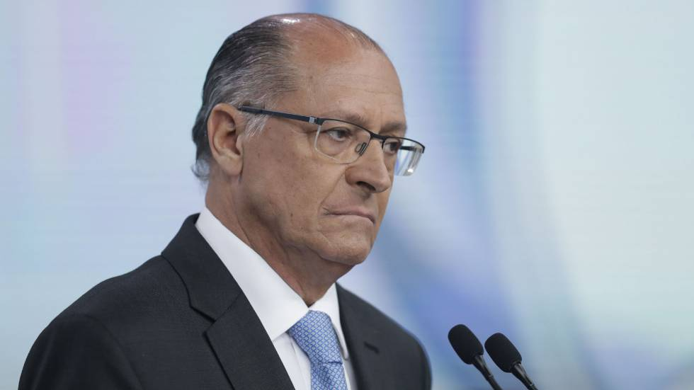 Geraldo Alckmin, candidato à presidência pelo PSDB, durante o debate na Record.