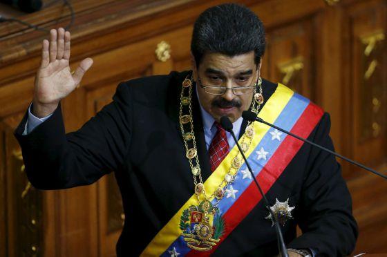 Nicolás Maduro, durante seu discurso.