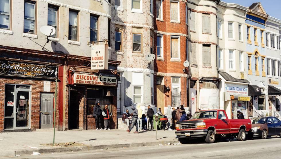 A avenida W Norte, uma das artérias de West Baltimore, a zona mais afetada pela violência.