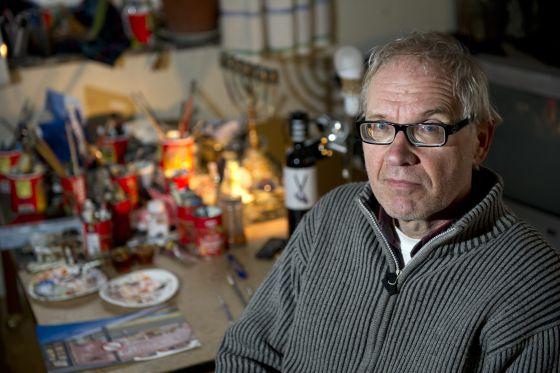 Lars Vilks, em uma foto tirada em 3 de janeiro de 2012, em Nyhamnslage (Suécia).