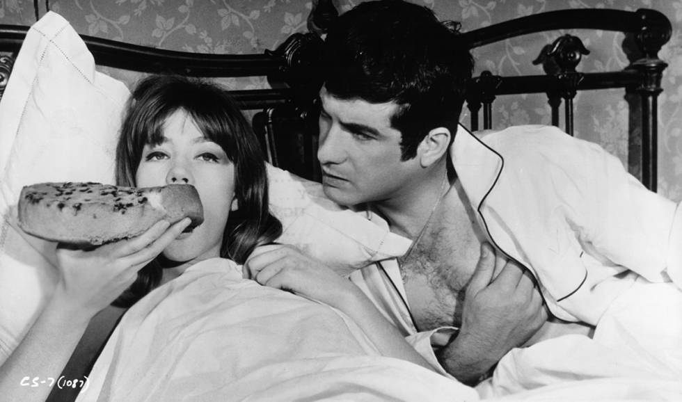 Françoise Hardy e Jean-Claude Brialy em 'Castelo na Suécia' de 1963.