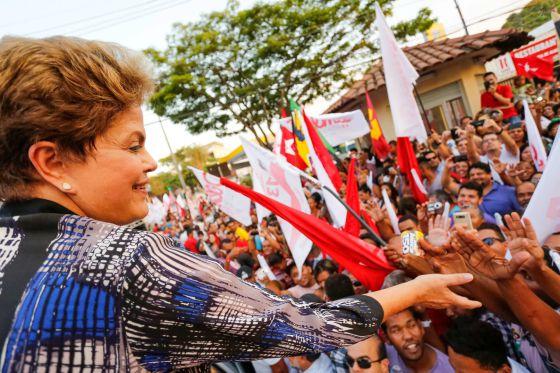 Dilma Rousseff em campanha nesta semana em Minas Gerais.