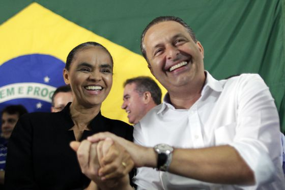 Marina Silva e Eduardo Campos.
