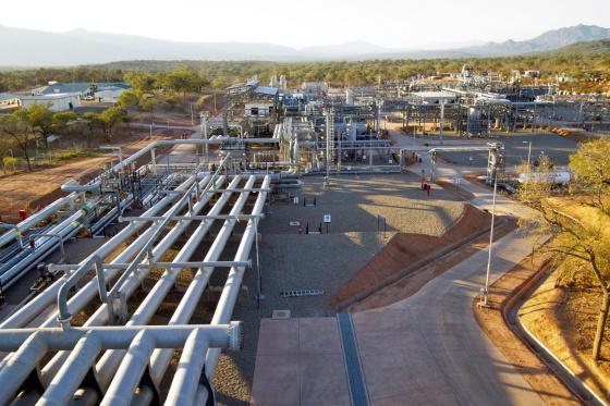 Planta de gás de Margarita-Huacaya, onde Repsol inici?oducci?n del poço Margarita 6, em Bolivia