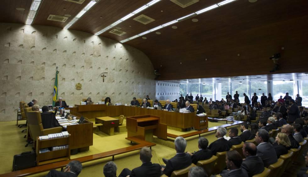 Vista da sessão do Supremo nesta quarta.