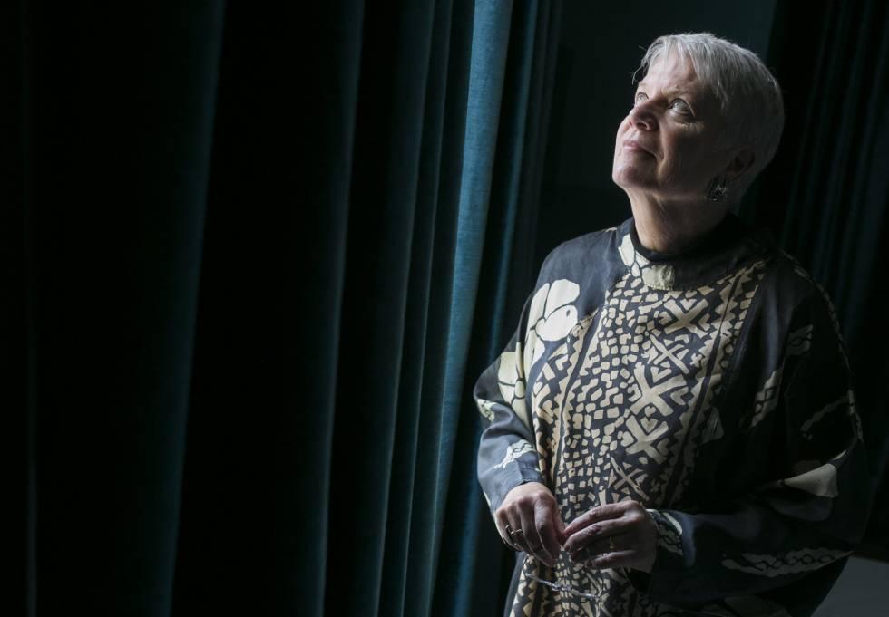 A astrofísica Jill Tarter, fotografada ontem em Madri.