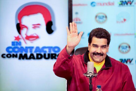 Nicolás Maduro em um programa de rádio.