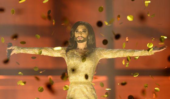 Conchita Wurst no Festival de Eurovisión.
