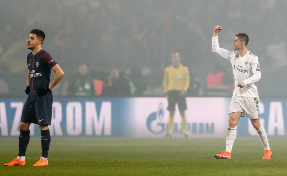 Cristiano Ronaldo comemora gol sobre o PSG.