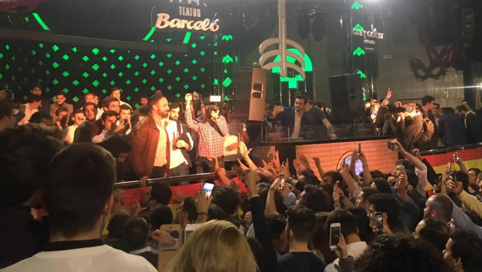 Santiago Abascal, durante o ato realizado na sexta-feira.