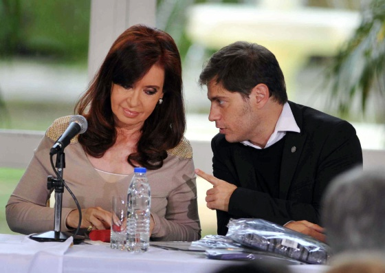 A presidenta argentina junto ao ministro de Economía, nesta quinta-feira