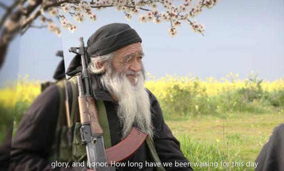 Fotograma de um vídeo difundido pelo Estado Islâmico.