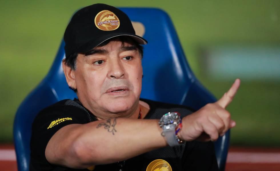 Maradona, durante um jogo na Cidade do México