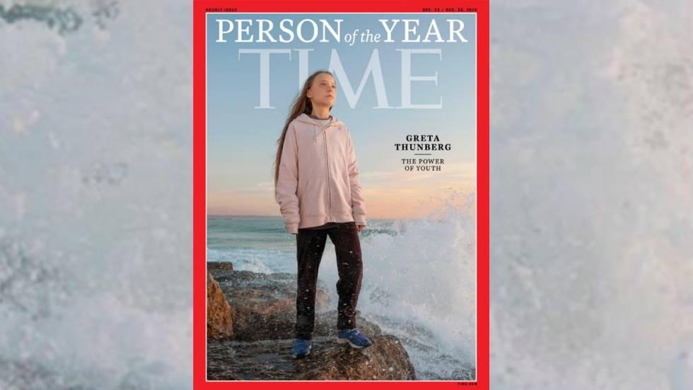 La portada de la revista 'Time' en la que se nombra a Greta Thunberg 'persona del año'.