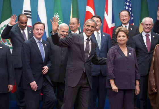 Líderes do G-20 em Brisbane.
