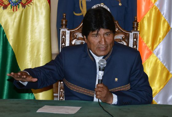 O presidente Evo Morales, nesta terça-feira.