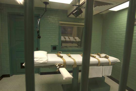 Câmara da morte em Huntsville, Texas.