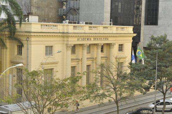 A fachada da ABL, no Rio de Janeiro.