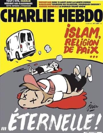 Capa do último número do 'Charlie Hebdo'.