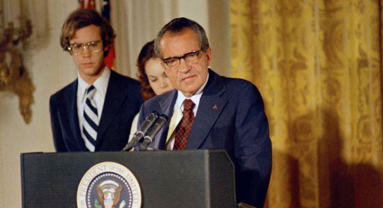 Nixon, em seu discurso de despedida em 9 de agosto de 1974.