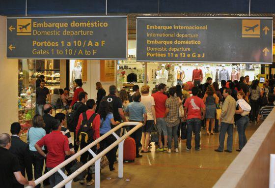 Movimento no aeroporto internacional de Brasília, em imagem de arquivo.