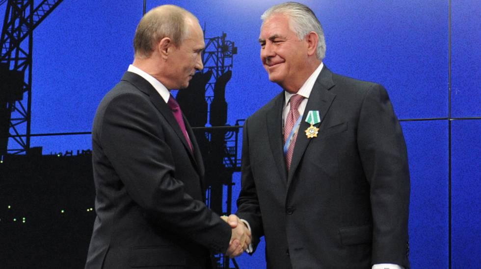 Tillerson com Putin.