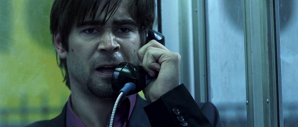 Colin Farrell no filme 'Por um fio'.