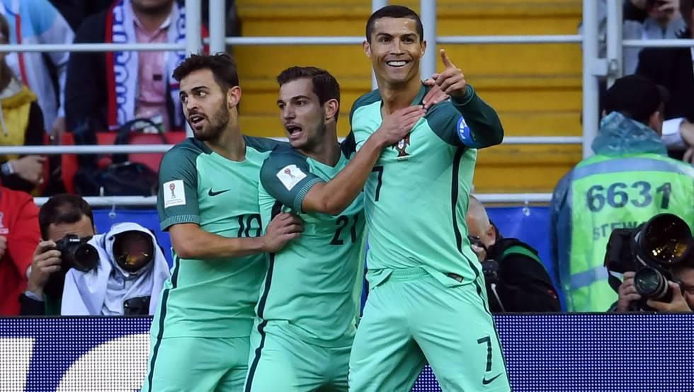 Cristiano Ronaldo abriu o placar em Moscou.