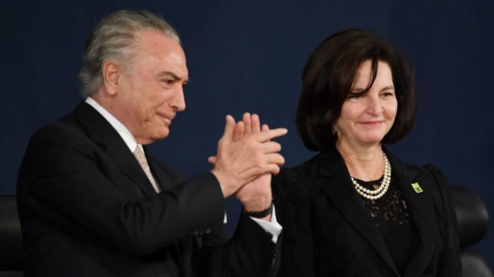 Michel Temer e Raquel Dodge, na posse dela na PGR.