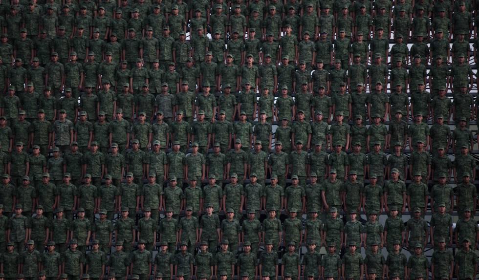Soldados em uma cerimônia militar na semana passada na Cidade do México.