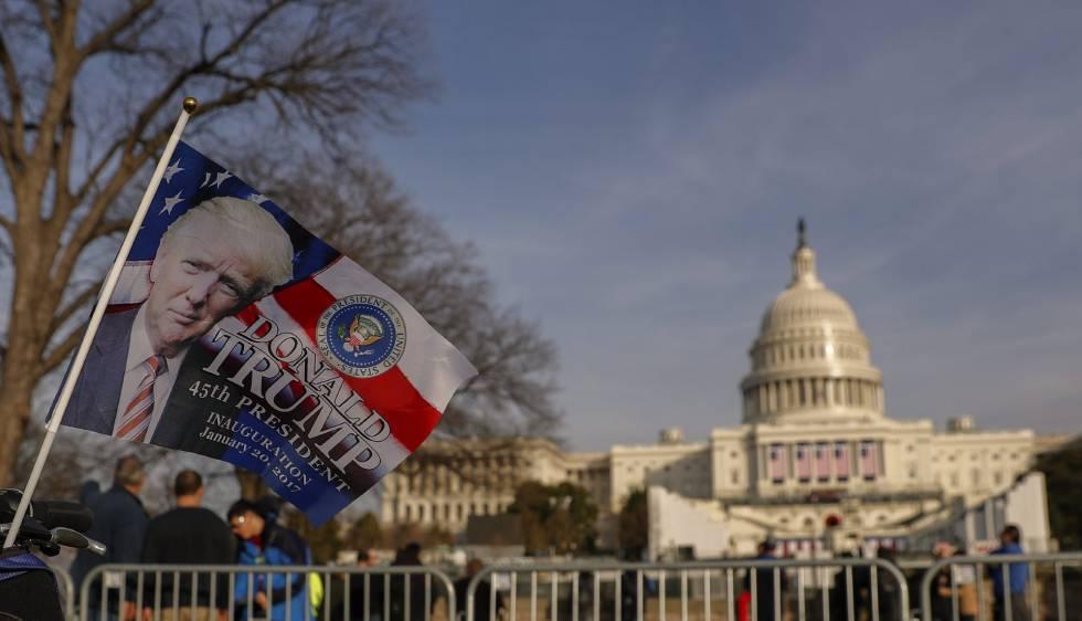 O Capitólio, em Washington, onde Donald Trump toma posse nesta sexta-feira como presidente dos EUA.