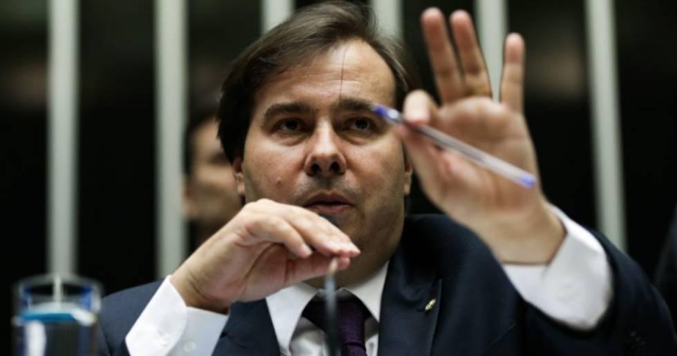 O presidente da Câmara, Rodrigo Maia, na sessão que vota a PEC 241.