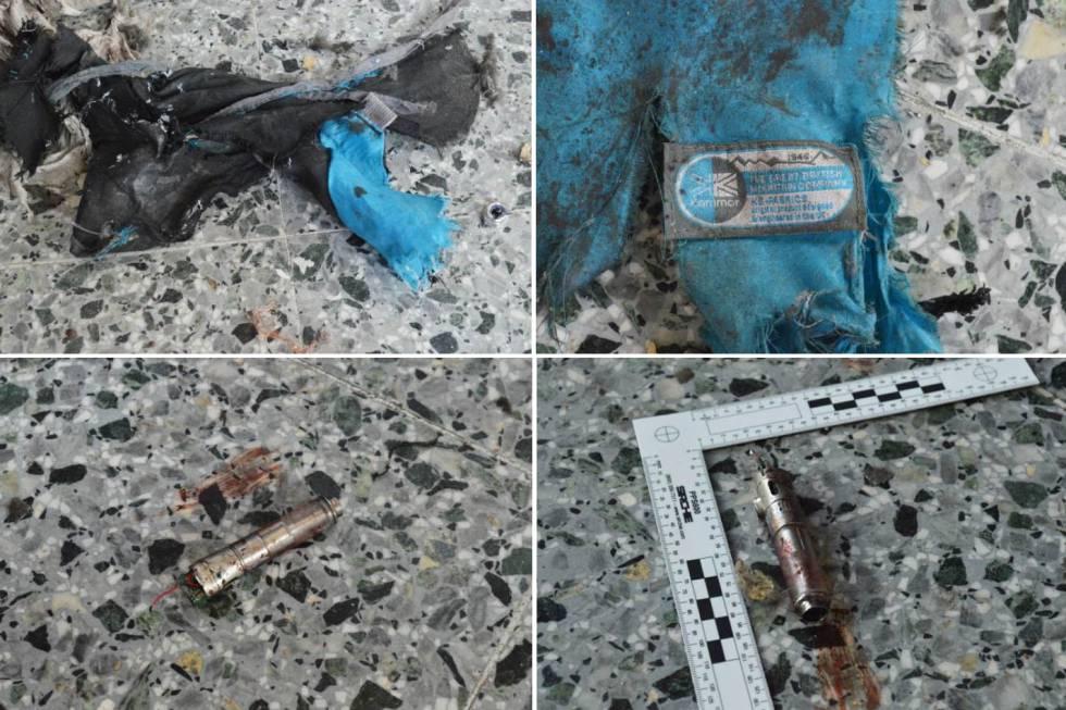 Fotografias com vestígios da bomba publicadas pelo 'The New York Times'.