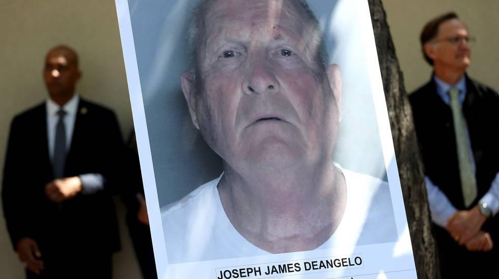 Foto policial de Joseph James DeAngelo apresentada na coletiva de imprensa desta quarta-feira em Sacramento