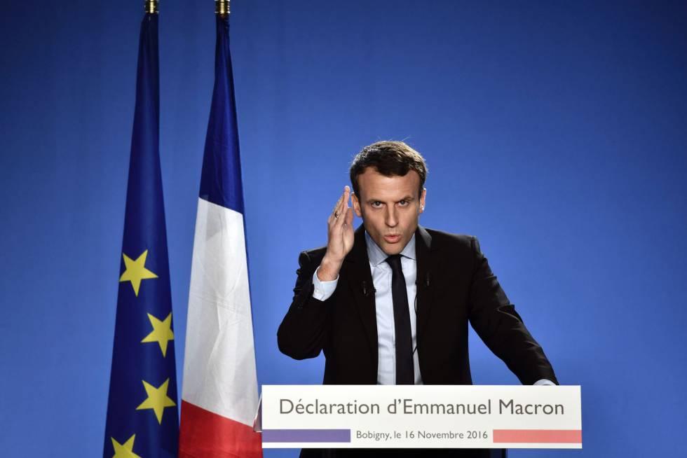 Emmanuel Macron apresenta sua candidatura em novembro do passado ano.