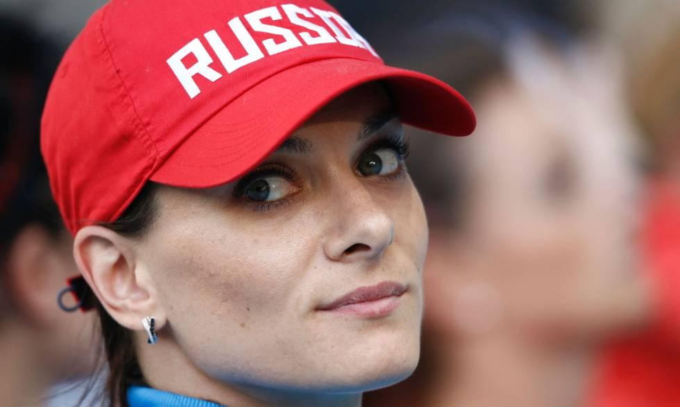 A estrela russa do salto com vara, Yelena Isinbayeva.