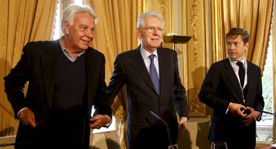 González, Monti e Berggruen, durante coletiva de imprensa.