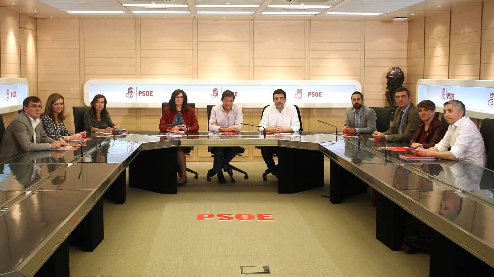 Reunião da comissão gestora do PSOE no mês passado em Madri.