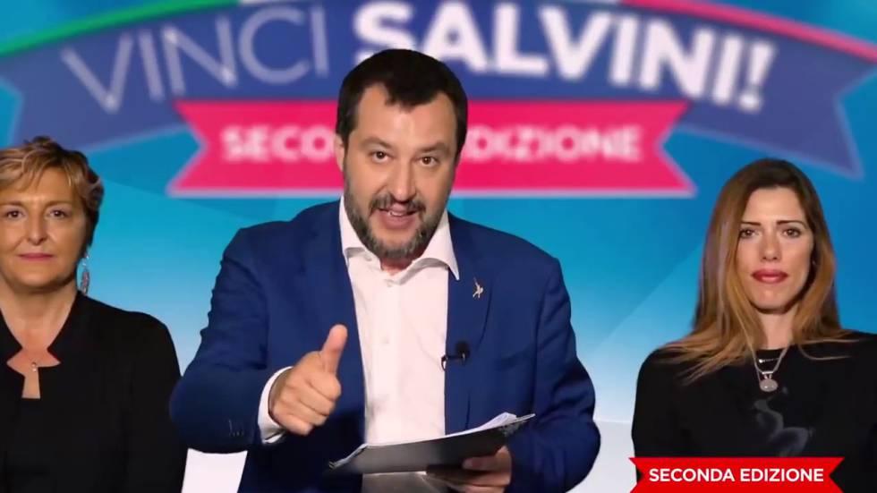 Matteo Salvini, em uma imagem do vídeo que promove seu concurso.