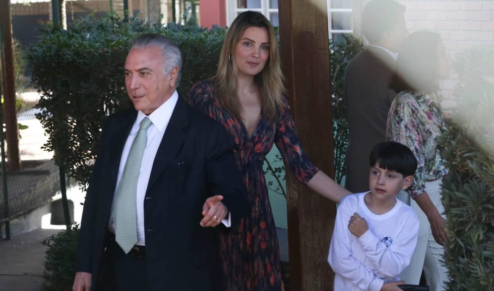 Michel e Marcela Temer com o filho Michelzinho.