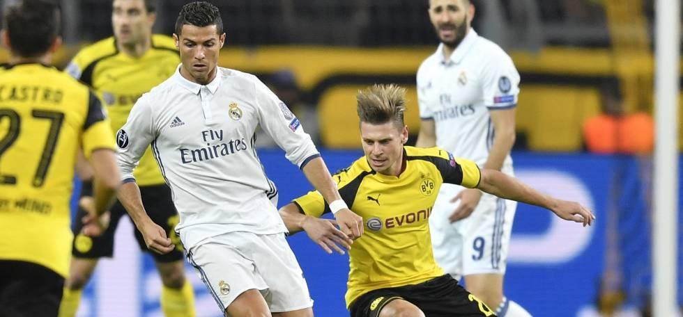 Dortmund x Real: Cristiano fez o primeiro.