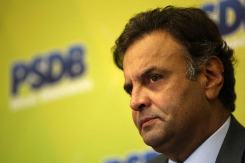 O tucano, Aécio Neves, senador afastado após escândalo.