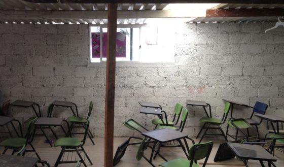 Uma escola no México durante as férias.