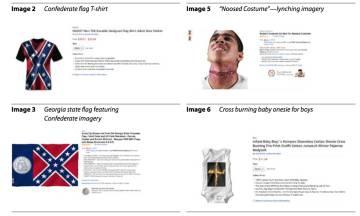 Captura de tela do relatório que critica os produtos que incitam ao ódio na Amazon.