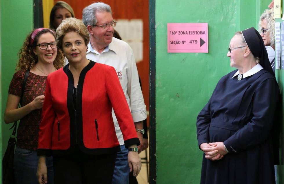 Dilma no domingo passado em Porto Alegre.