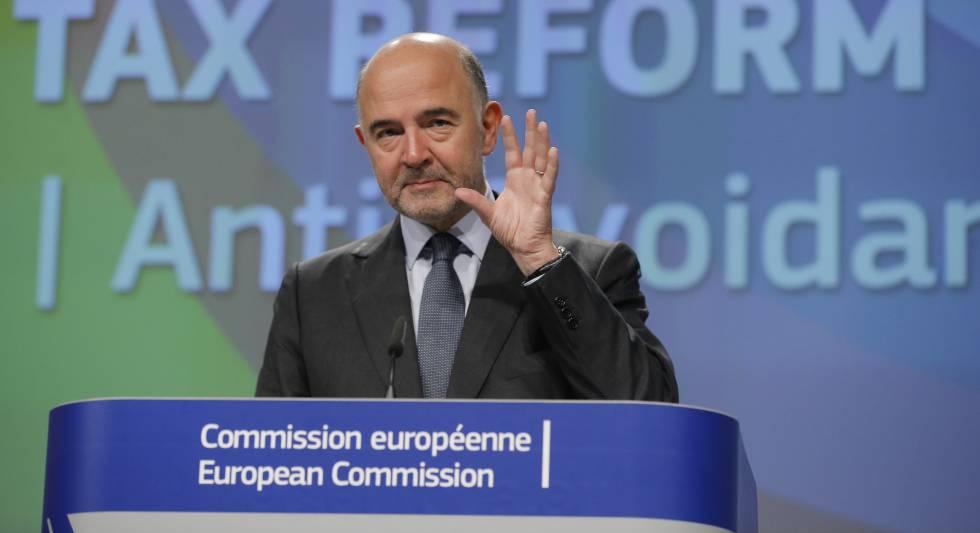 O comissário de Finanças, Pierre Moscovici.