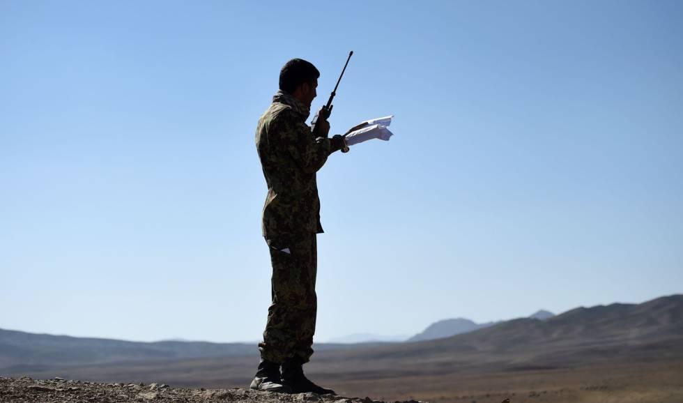 Um soldado afegão, numa foto de arquivo.