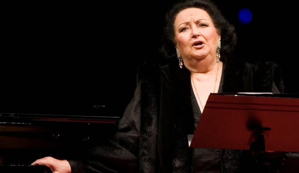 Montserrat Caballé, num espetáculo em 2007.