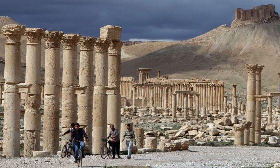 Ruínas de Palmira, em março de 2014.