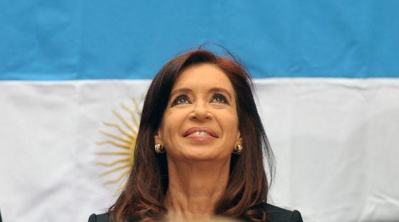 A presidenta argentina Cristina Fernández